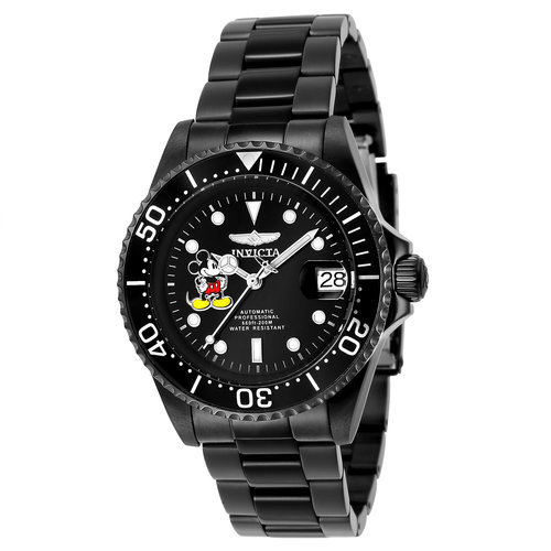 Mickey Mouse Pro Diver Watch For Men By Invicta Black