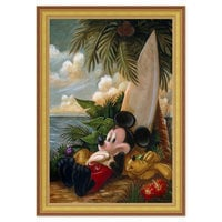 Image of Mickey Mouse and Pluto ''Sundown Surfer Mickey Mouse'' Giclée by Darren Wilson # 8