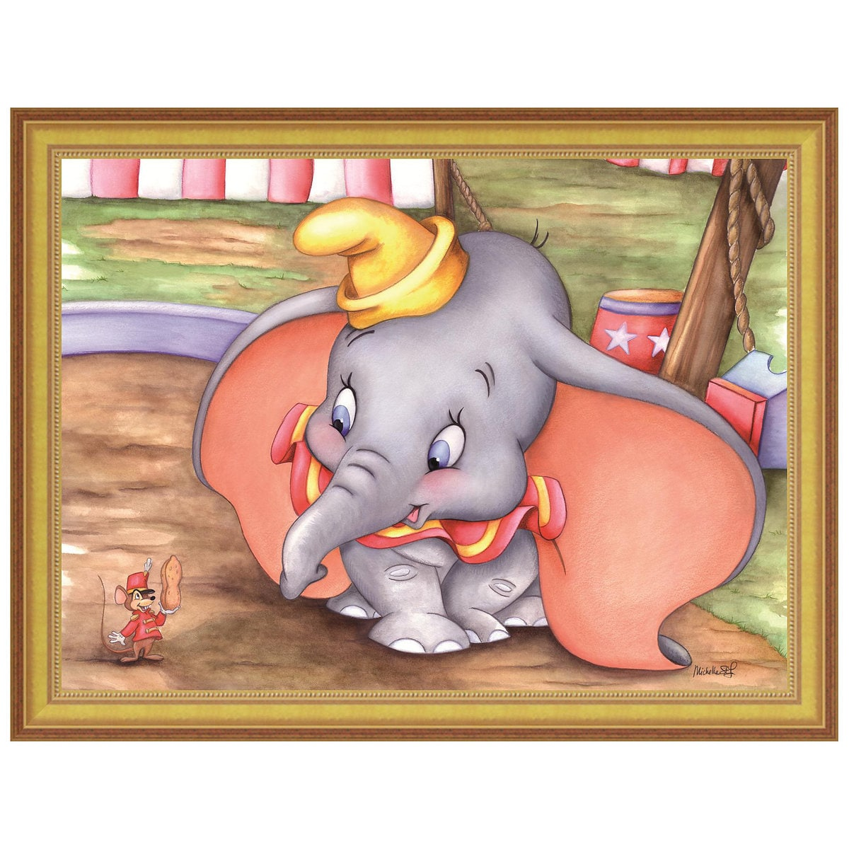 dumbo at the circus u0027 u0027 giclée by michelle st laurent shopdisney