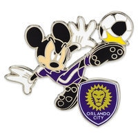 Mickey Mouse Major League Soccer Pin - Orlando City