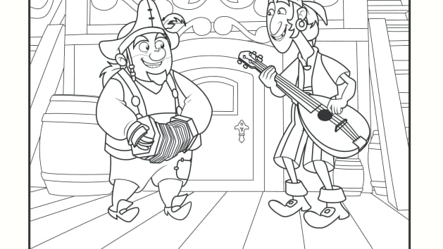 sharky and bones coloring pages disney junior - Jake Neverland Coloring Pages