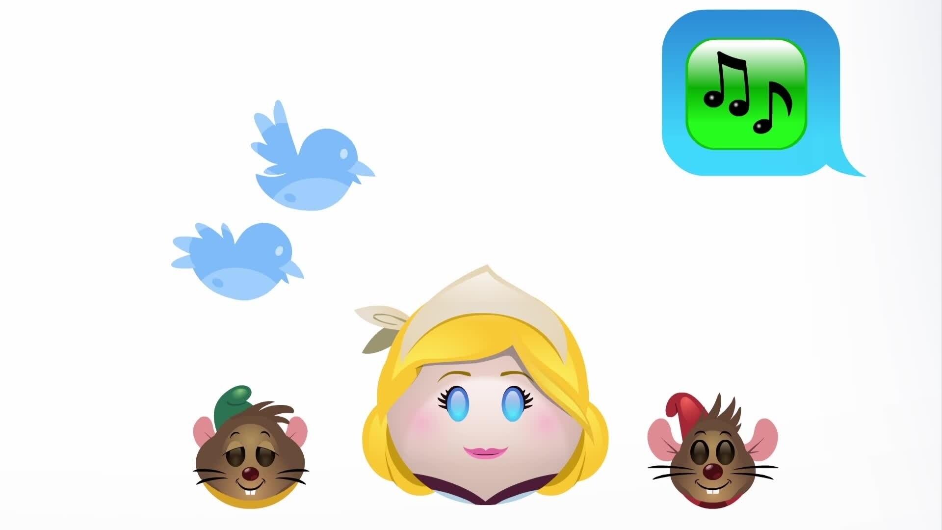 Assepoester verteld door emoji