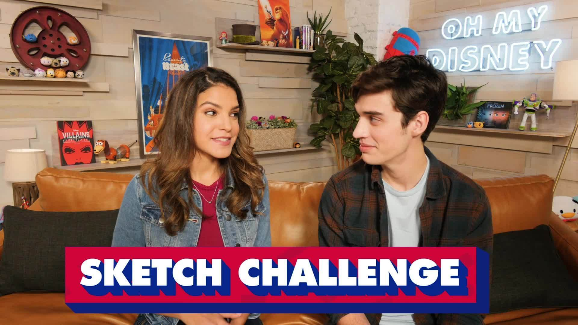 Joey Bragg Tries the Disney Sketch Challenge | The Oh My Disney Show