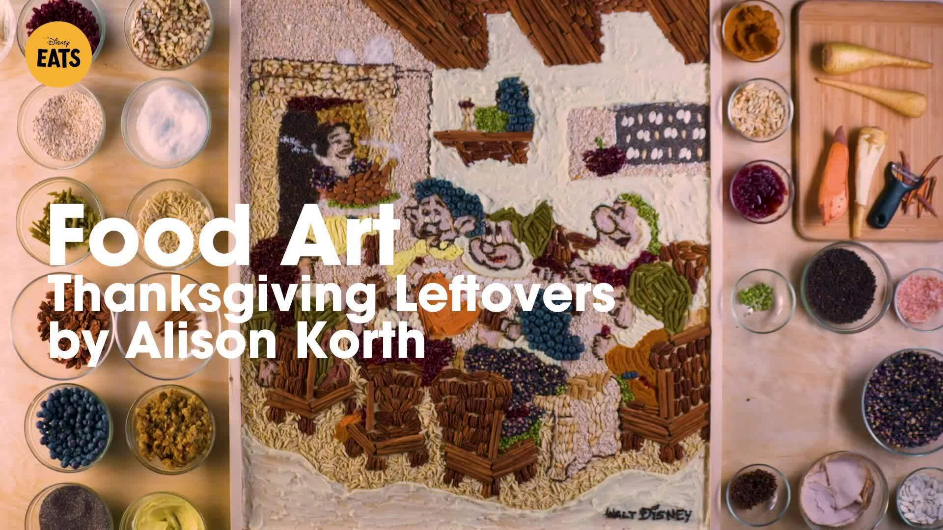 Snow White and the Seven Dwarfs Thanksgiving Leftover Food Art | Disney Eats