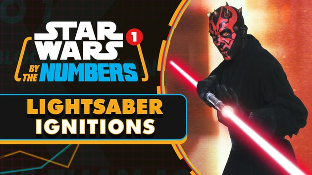 DMVR-9007   Every Lightsaber Ignition in the Star Wars Films   Star Wars By the Numbers