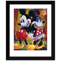 Mickey Mouse and Minnie ''Two Hearts'' Giclée by Darren Wilson