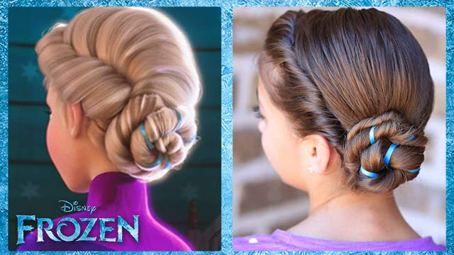 Frozen Inspired Elsa's Coronation Hairstyle Tutorial - A CuteGirlsHairstyles Disney Exclusive