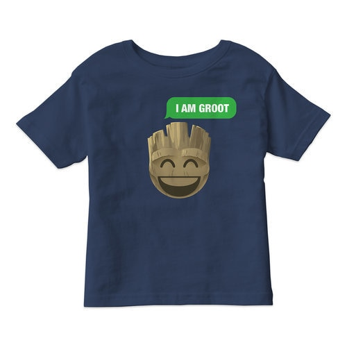 ''I Am Groot'' Text Emoji Tee for Kids ? Customizable
