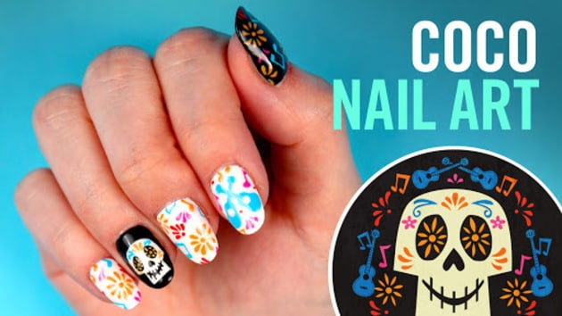 Coco nail art tips by disney style disneypixar disney video video thumbnail for coco nail art tips by disney style prinsesfo Choice Image