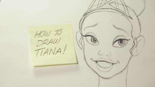 How to Draw Princess Tiana from The Princess and the Frog