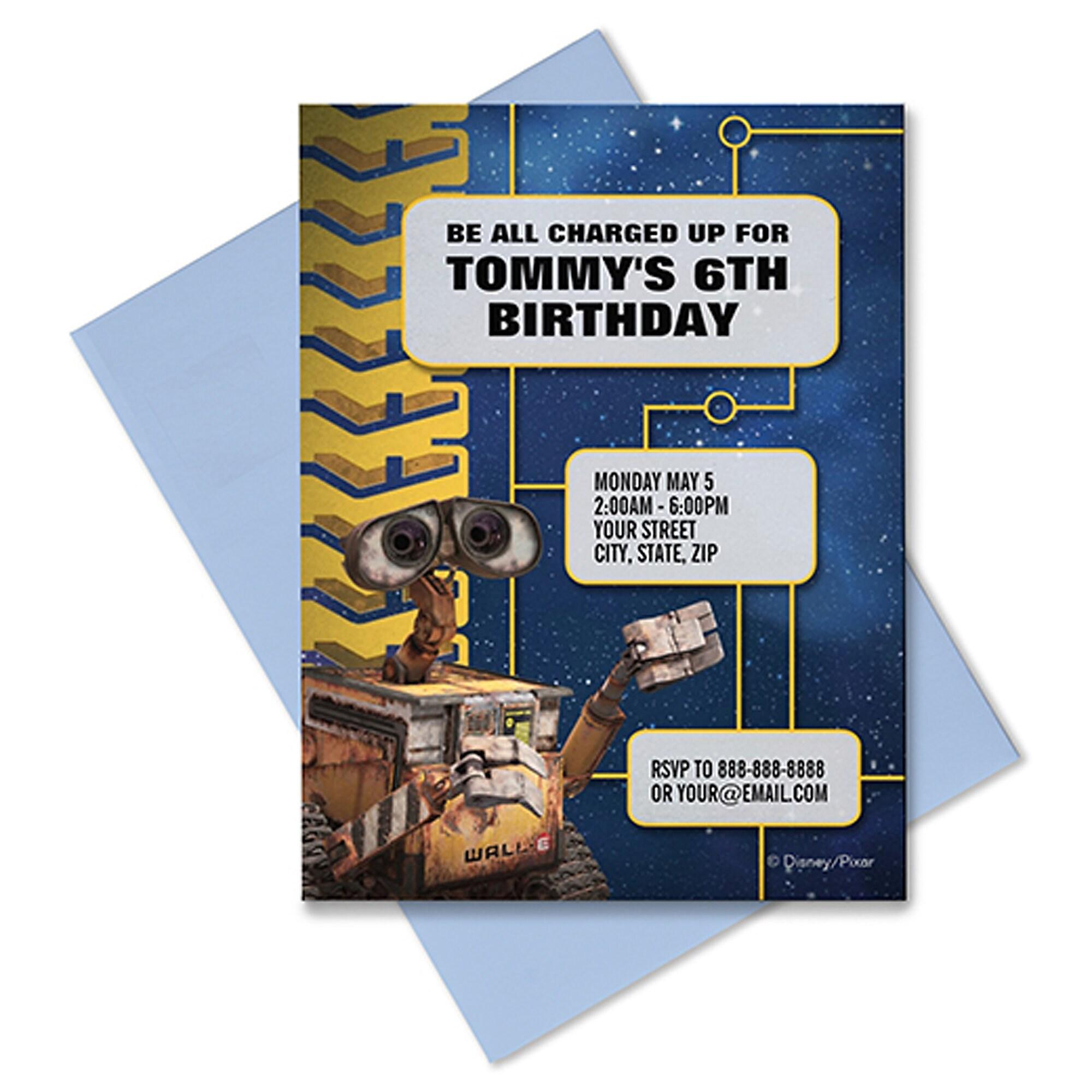 WALL-E Invitation - Customizable