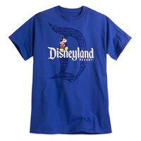 Mickey Mouse with Disneyland Logo Tee for Adults - Blue