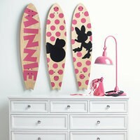 Minnie Mouse ''Minnie Longboard Wall Art III'' by Ethan Allen