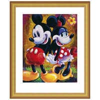 Image of Mickey Mouse and Minnie ''Two Hearts'' Giclée by Darren Wilson # 4