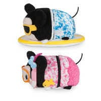 Image of Mickey and Minnie Mouse ''Tsum Tsum'' Plush Hawaii Set - Mini 3 1/2'' # 2