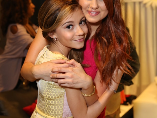 Debby and G. Hannelius - Here's a backstage moment of the two at the 2013 RDMAs.