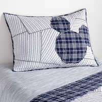 Image of Mickey Mouse Ticking Stripe Mickey Sham by Ethan Allen # 1