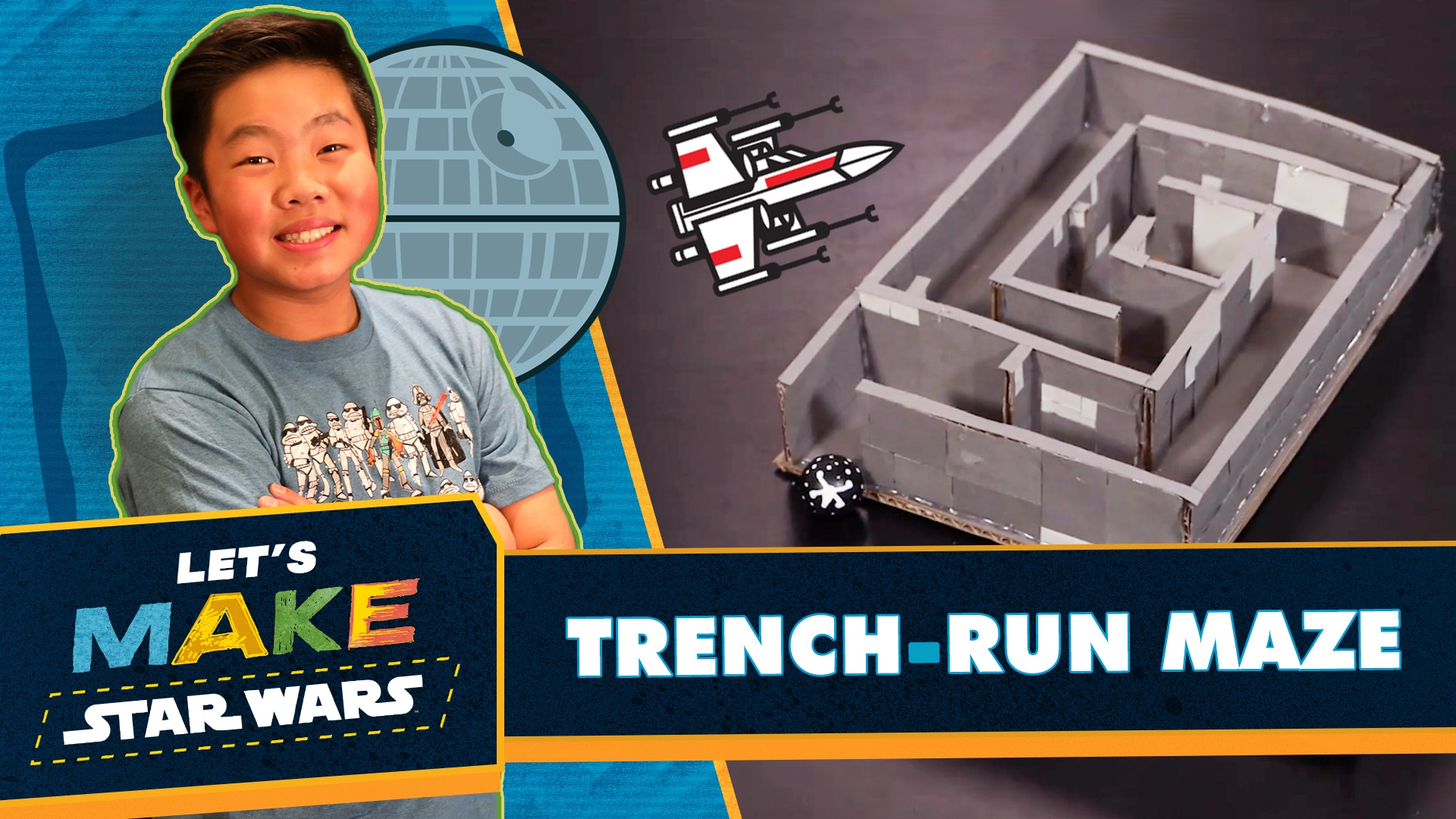 How to Make a Trench Run Marble Puzzle | Let's Make Star Wars