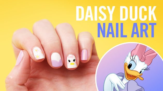 Disney style tips daisy duck nail art video disney video video thumbnail for daisy duck nail art tips disney style prinsesfo Image collections