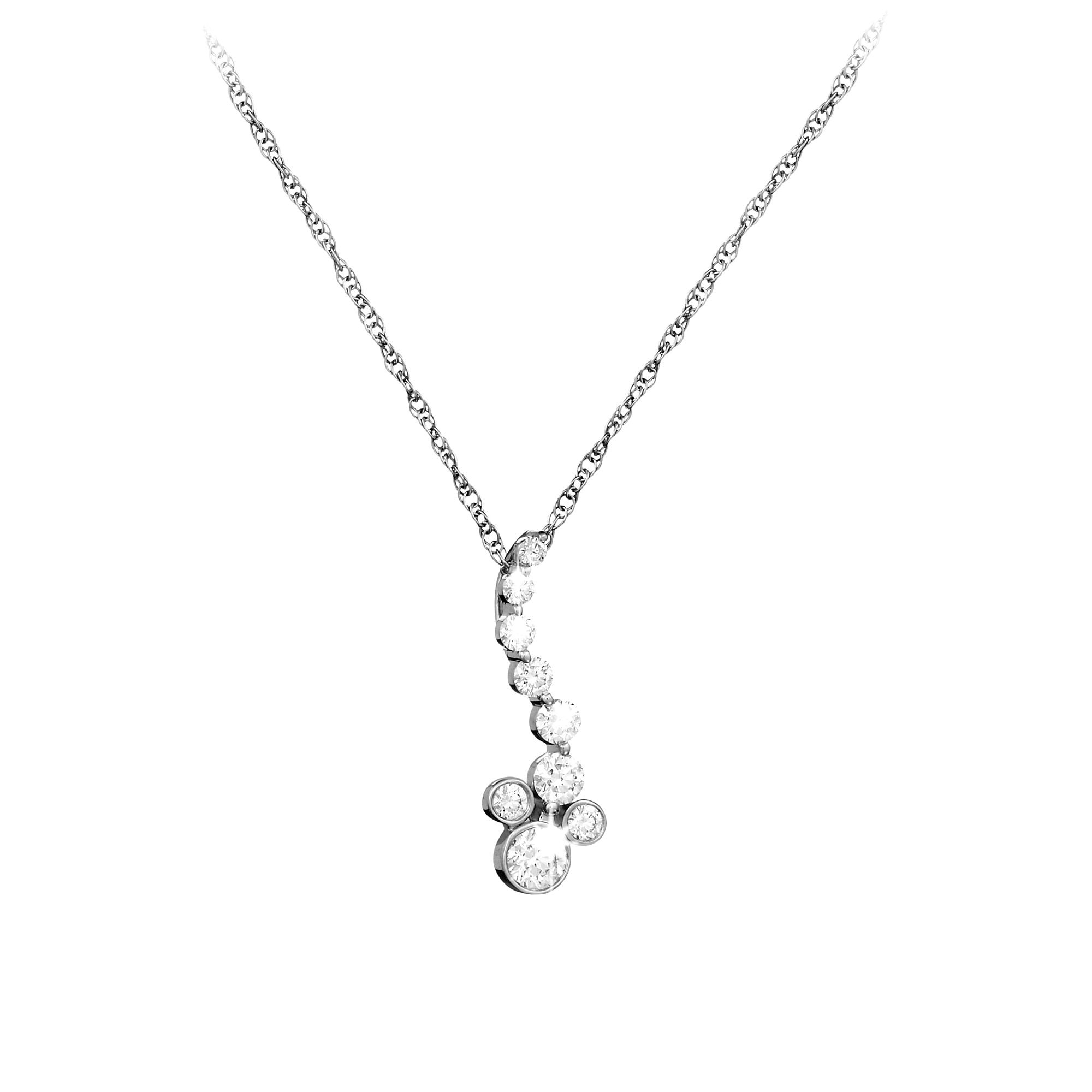 silver zirconia cubic crislu platinum finish in square sterling with necklace