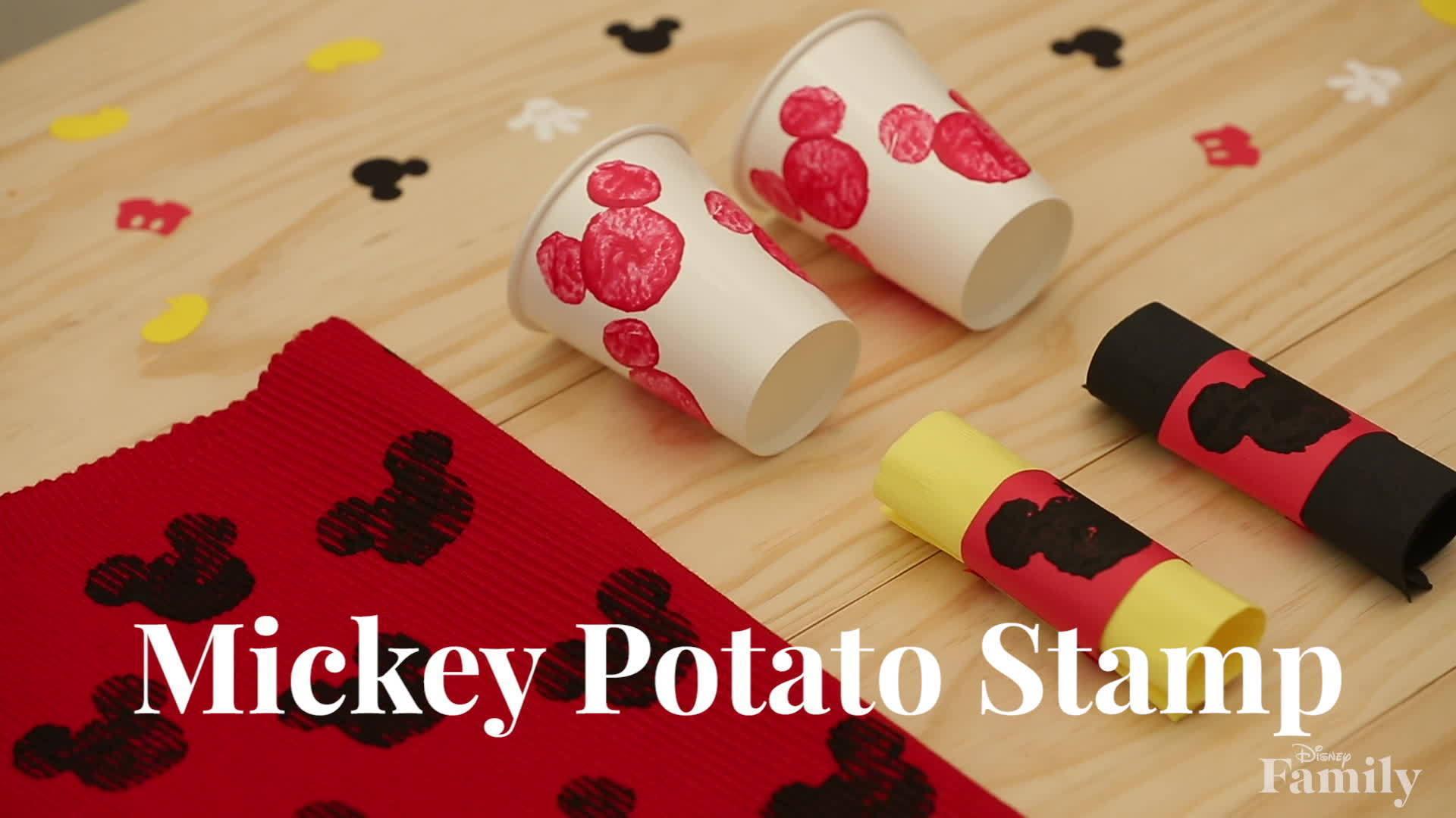 Disney Family: Mickey Potato Stamp DIY