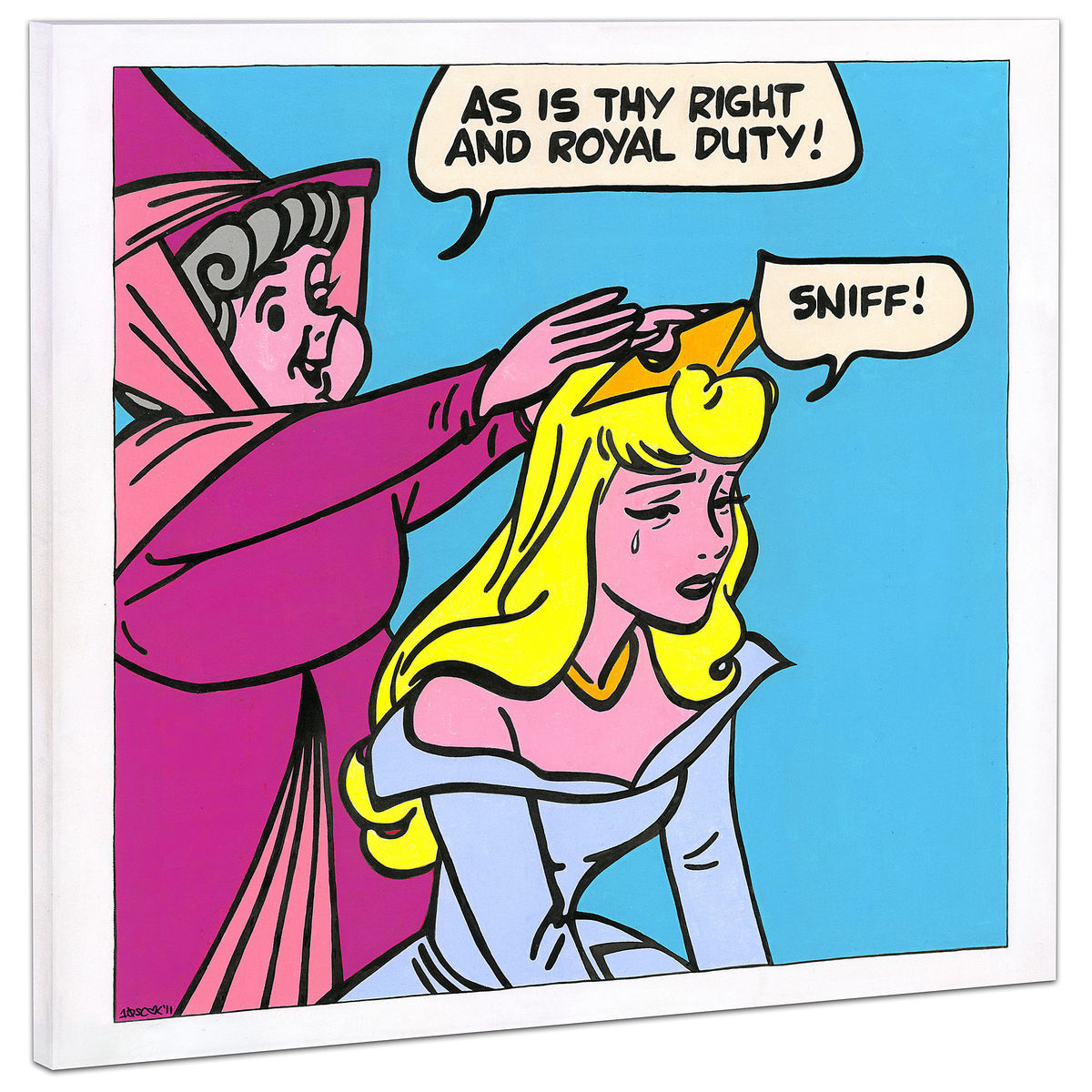 Sleeping Beauty Suck It Up Giclée On Canvas By Tennessee