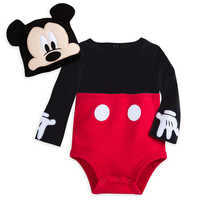 Image of Mickey Mouse Costume Bodysuit Set for Baby - Personalizable # 1