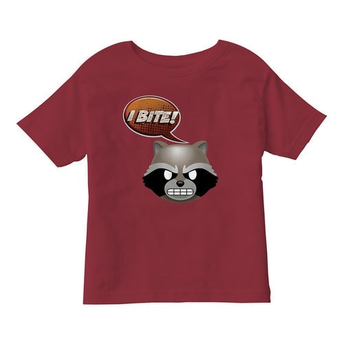 ''I Bite!'' Rocket Text Emoji Tee for Kids ? Customizable