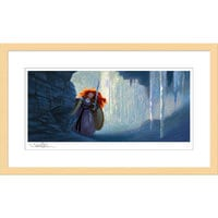 Image of Merida ''Ice Cave'' Framed Giclée on Paper by Steve Pilcher - Limited Edition # 1