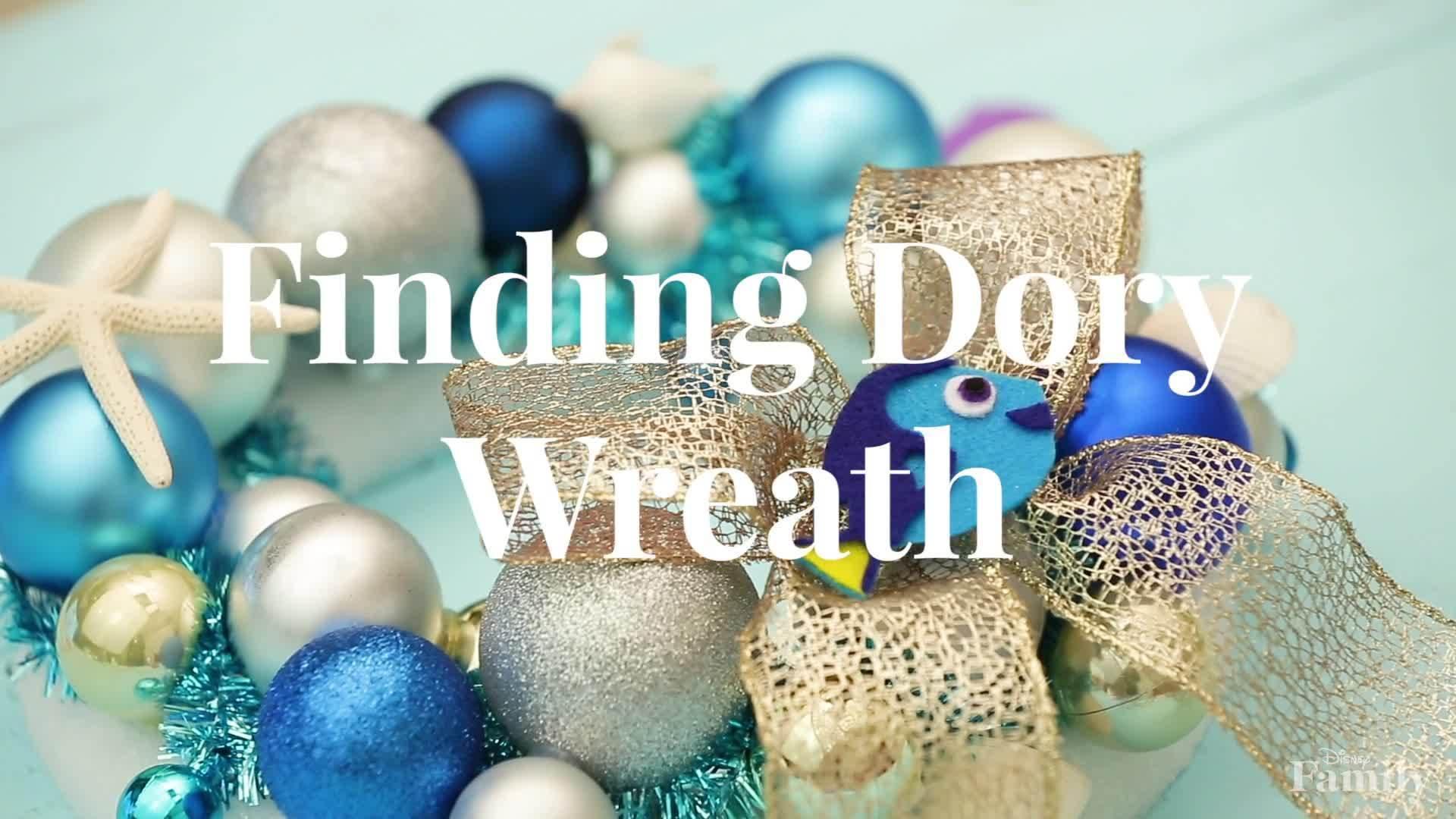 Disney Family: Finding Dory Holiday Wreath