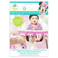Image of Minnie Mouse 1st Birthday High Chair Decorating Kit # 1