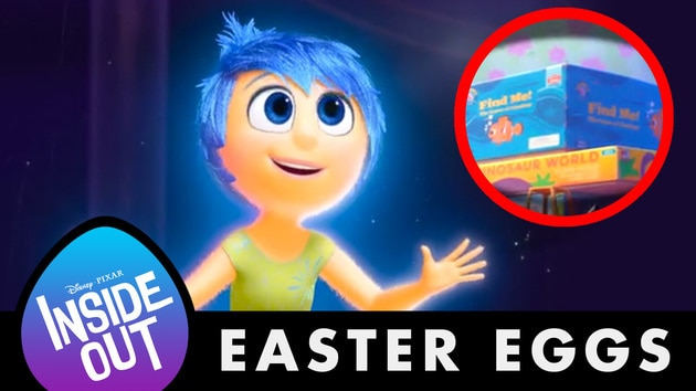 10 Hidden Easter Eggs from Inside Out | Disney Facts