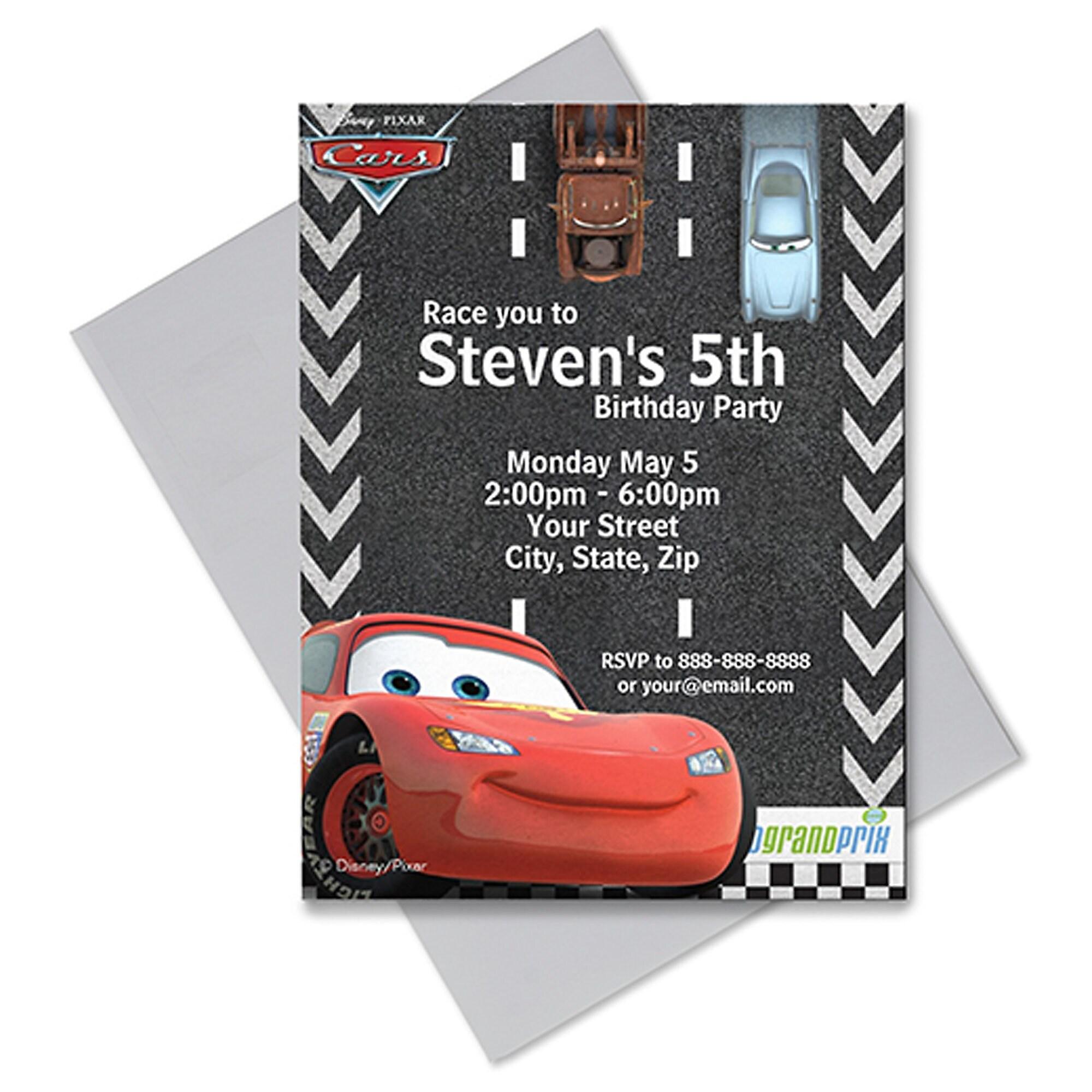 Cars Invitation - Customizable