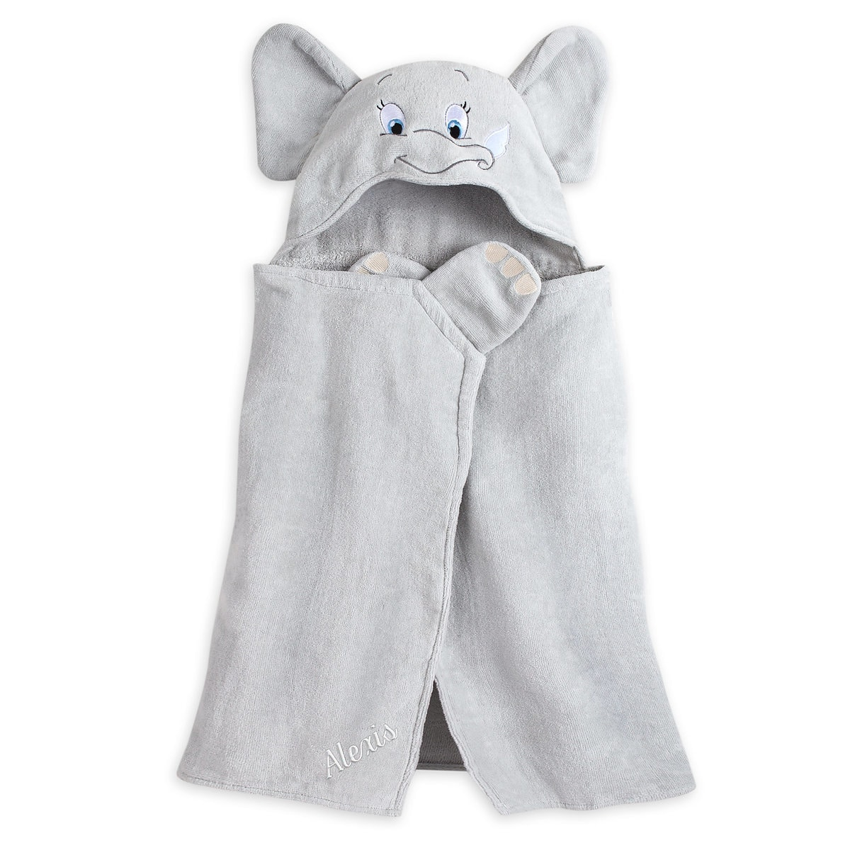 Dumbo Hooded Towel For Baby Personalizable Shopdisney
