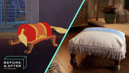 Beauty and the Beast DIY Footstool | Before and After by Disney Style