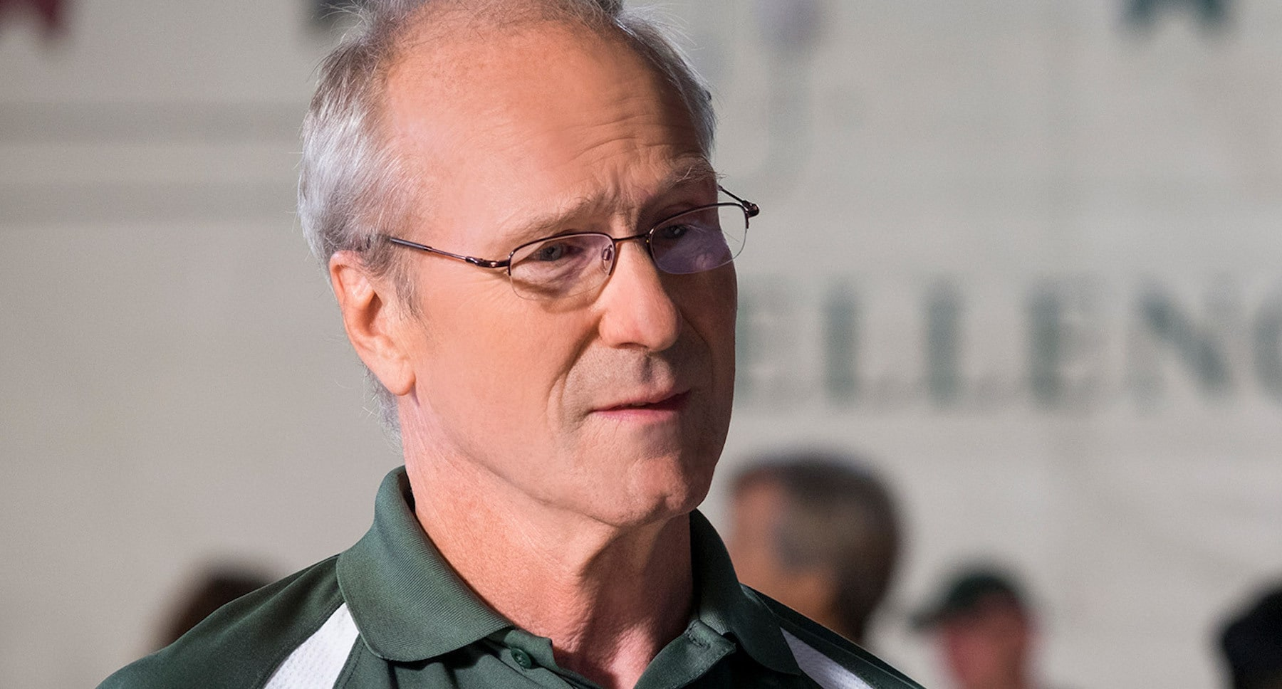 "Actor William Hurt (as Ernie Found) in the movie ""The Miracle Season"""