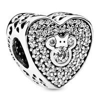 Mickey and Minnie Mouse Heart Charm by PANDORA