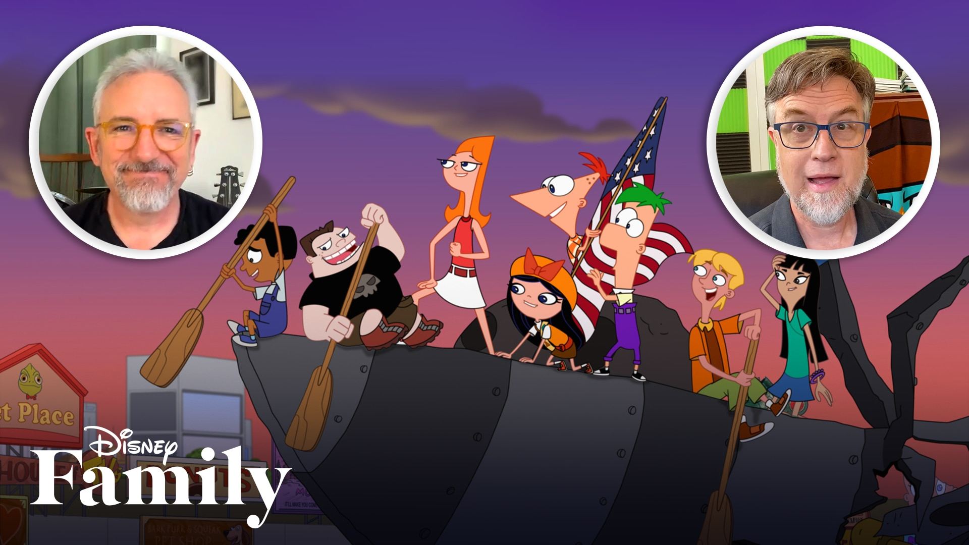 The Cast & Creators of Phineas and Ferb Explain the Phineas and Ferb Family Tree in 60 Seconds | Disney Family