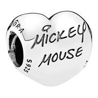 Image of Mickey Mouse Signature Charm by PANDORA # 1