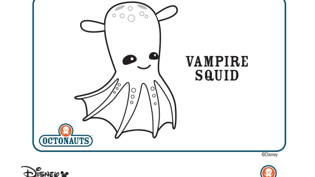 Octonauts colossal squid coloring page coloring page for Disney junior octonauts coloring pages