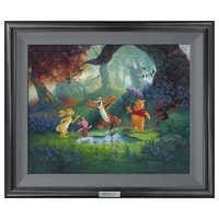 Image of ''Puddle Jumping'' Giclée on Canvas by Michael Humphries - Limited Edition # 1