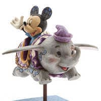 Image of Mickey Mouse and Dumbo Flying Elephants Figure by Jim Shore # 2