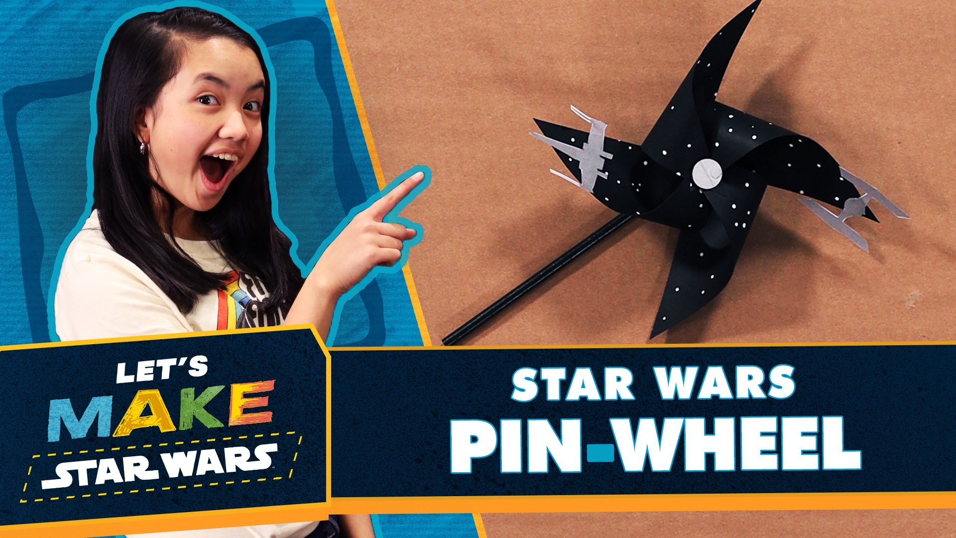 Let's Make Star Wars - How to Make a Star Wars Pinwheel