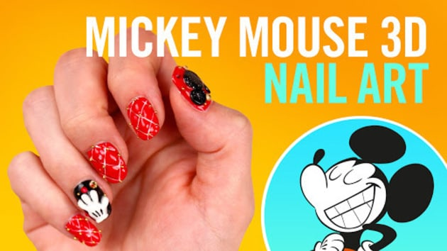 How to do mickey mouse 3d nail art disney video video thumbnail for mickey mouse 3d nail art prinsesfo Images