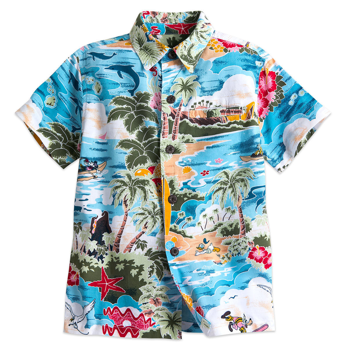 Product Image of Mickey Mouse and Friends Hawaiian Shirt for Boys   1 1e6fbbc40
