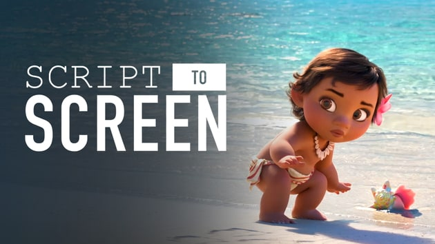 Baby Moana Meets the Ocean   Script to Screen by Disney