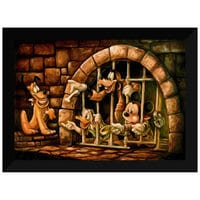 Mickey Mouse Pirates of the Caribbean ''Here Poochie'' Giclée by Darren Wilson