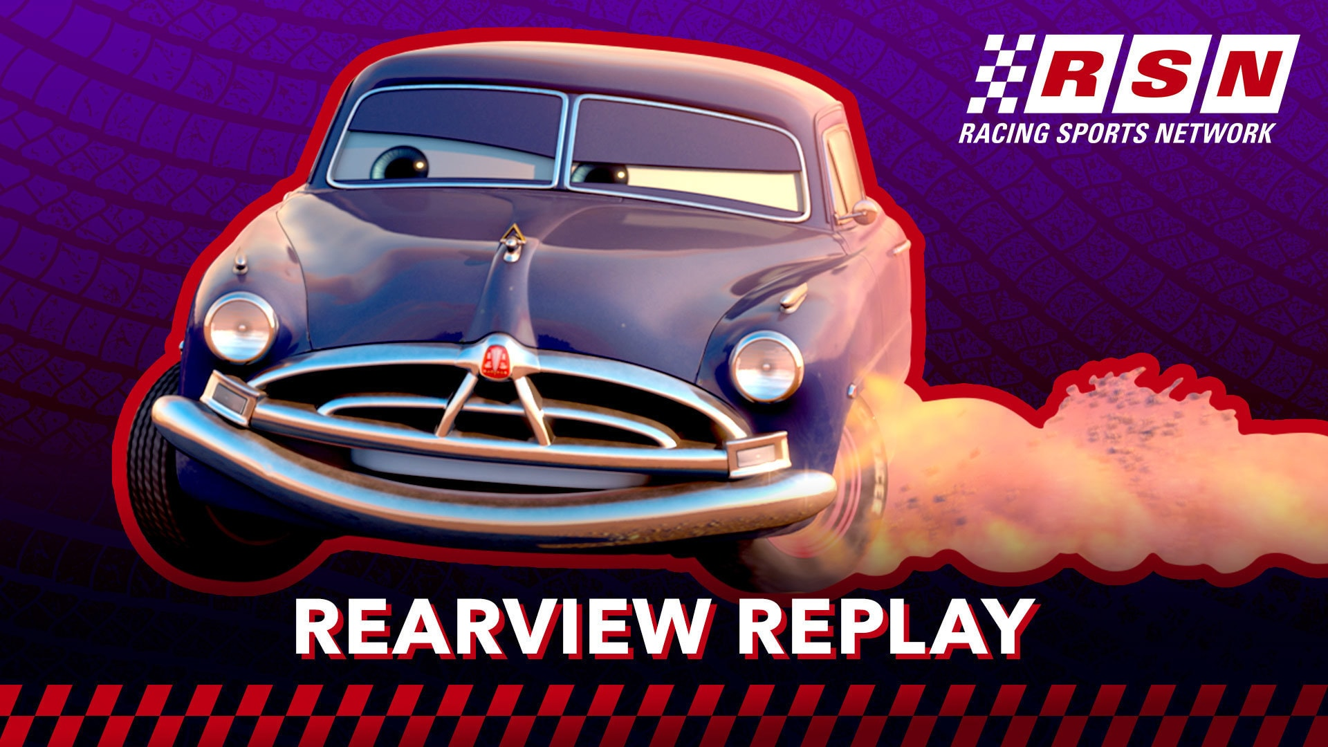 Doc Hudson Impresses Lightning McQueen in Rearview Replay | Racing Sports Network by Disney