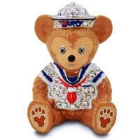 Duffy the Disney Bear Figurine by Arribas - Jeweled Mini