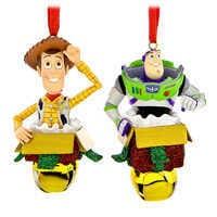 Image of Woody and Buzz Lightyear Bell Ornament Set # 1